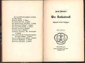 Der Liebestrank,,Schwank in 3 Aufzügen, 2. Auflage: Wedekind, Frank