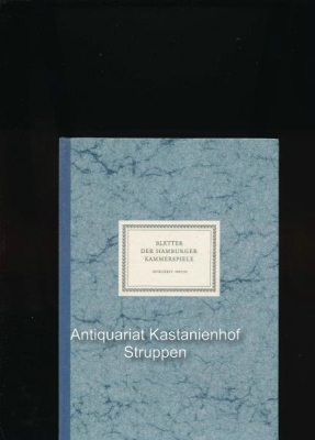 Blätter der Hamburger Kammerspiele (10 Hefte),Spielzeit 1957/58,: Allgayer, Wilhelm