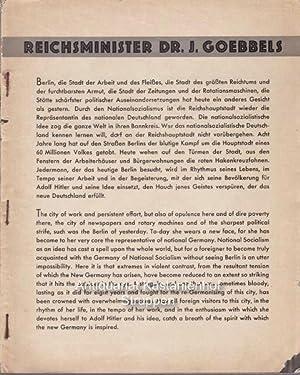 Berlin.: NS-Propaganda für deutsche und ausländische Olympiabesucher.