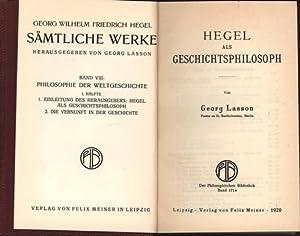 Konvolut 2 Bücher: 1.Hegel als Geschichtsphilosoph. 2. Die orientalische Welt. Auf Grund des ...