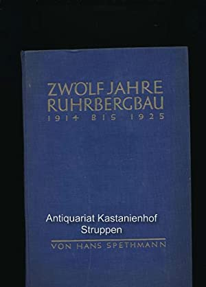Zwölf Jahre Ruhrbergbau 1914 bis 1925. Band III: Der Ruhrkampf 1923 bis 1925 in seinen Leitlinien: ...