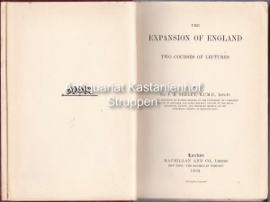 The expansion of England.,Two courses of lectures.: Seeley J. R.