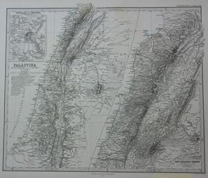 Das Libanon Gebiet Aus A. Stiehler' s Handatlas.,Fünfte Ausgabe 1866-1868 Stahlstich,,,: Karte ...