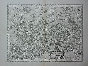 Palatinatus Bavariae. Kupferstich-Karte von Blaeu, Oberpfalz nördlich der Donau. Mittelpunkt: ...