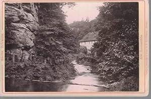 Kabinettfoto - Ansichtskarte Sächs. Schweiz 105. Lochmühle.,Photographie auf Karton montiert: ...