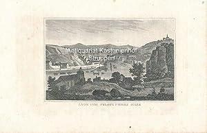 Lyon vom Felsen Pierre Scize - Original-Stahlstich,,