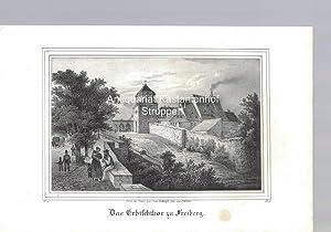 Das Erbischthor zu Freiberg. Original-Lithographie.,unten links: IV. 9., unten rechts: B. III.,: ...