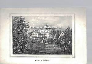 Schloss Haynewalde. Original-Lithographie.,unten links: V. 10., unten rechts: B. III.,: Nach d. ...