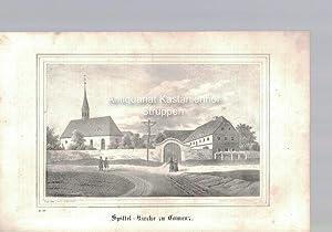 Spittel-Kirche zu Camenz. Original-Lithographie.,unten links: L. 12.,: N. d. Nat. gez. v. Julius ...