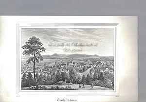 Grossschönau. Original-Lithographie,unten links: I. 22., unten rechts: B. III.,