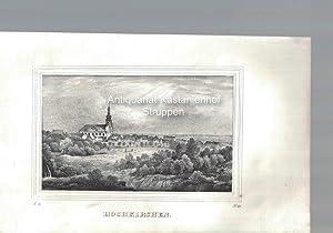 Hochkirchen. Original-Lithographie,unten links: I. 9., unten rechts: