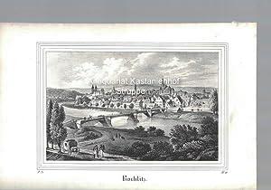 Rochlitz. Original-Lithographie.,unten links: I. 21., unten rechts: B. II.