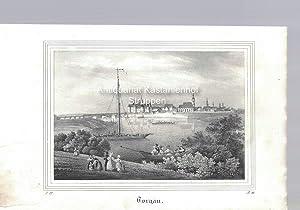Torgau. Original-Lithographie.,unten links: L. 22., unten rechts: B. III.,