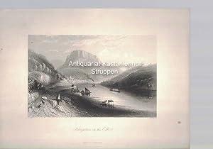 Königstein on the Elbe. Original-Stahlstich.,unten mittig: London E. T. Brain, 88, Fleet Street.,: ...