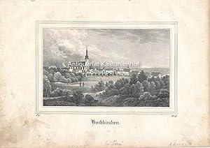 Hochkirchen. - Original-Lithographie,unten links: I. 9., unrten