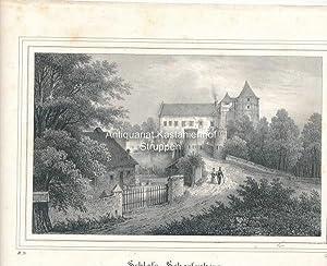 Schloss Scharfenberg. - Original-Lithographie,unten links: II. 21., unrten rechts: B. III.,,