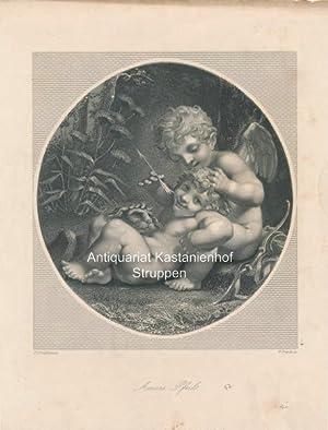 Amors Pfeil - Original-Stahlstich,: P. P. Prudhon p.t/W. French sc.