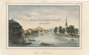 Ville d'Eskilstuna. - kolorierter Original-Stahlstich,oben mittig: Suède; oben rechts: 35.