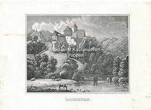 Rauenstein. Original-Stahlstich.,,