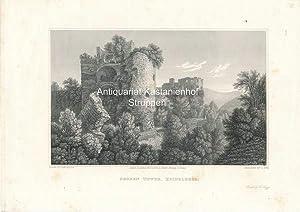 Broken Tower, Heidelberg. - Original-Stahlstich,Printed by H. Triggs. London.Published Nov.r 1. ...