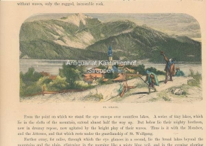 St. Gilgen. - kolorierter Holzstich,The Bavarian Mountains.,,,