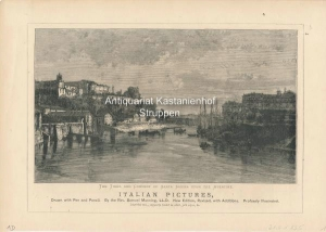 Vorderseite: Italian Pictures, The Tiber an Convent of Santa Sabina upon the Aventine. ,Drawn with ...