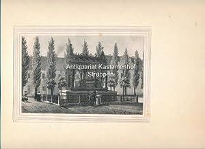 Denkmal der Königin Luise von Preußen zu Gransee. - Original-Lithographie,unten links: I. 2., unten...