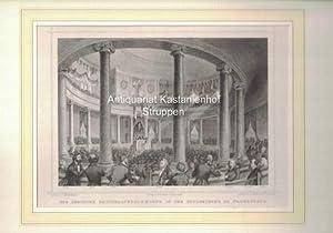 Die Deutsche Nationalversammlung in der Paulskirche zu: Gez. v. H.