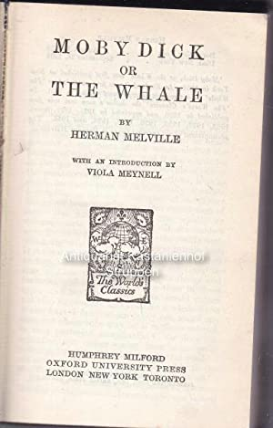 Moby Dick or The Whale.,The World's Classics.: Melville, Herman