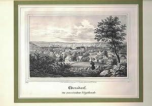 Ebersdorf, im reussischen Voigtlande. Lithographie.,unten links: IV. 15.; unten rechts: B. I.,: ...