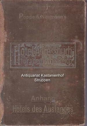 Hotel Adressbuch für das Deutsche Reich.,Guide International des Hotels. Teil Deutschland, Teil ...