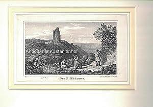 Der Kiffhäuser. - Lithographie.,unten links: 22.: Lith. v. Ed. Pietzsch & C.o in Dresden.