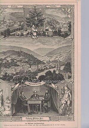 Im Thüringer Spielwaarenland. - Holzstich.,: Zeichnung von Louis Hutschenreuter in Lichte, zum ...