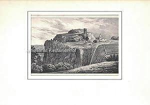 Der Regenstein bei Blankenburg im Harz. - Lithographie.,unten links: I. 6.; unten rechts: B. III.,