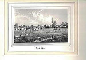 Lauchstädt. - Lithographie.,unten links: II. 10.; unten rechts: B. I.
