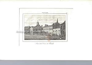 Palazzo della Comune di Filadelfia. - Original-Radierung.,oben mittig: Stati Uniti.; oben rechts: ...