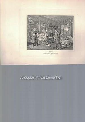 Marriage a la Mode No. 5. - Kupferstich, feine Manier und Radierung,: Hogarth del.t
