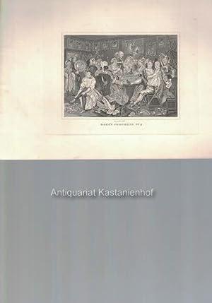 Rake's Progress No. 3. - Original- Kupferstich, feine Manier, und Radierung.,: Hogarth del.t