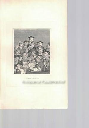 Public lecture. - Original-Radierung.: Hogarth del.t