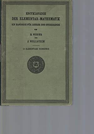Encyklopädie der Elementaren Geometrie.,Enzyklopädie der Elementar-Mathematik. Ein Handbuch für ...