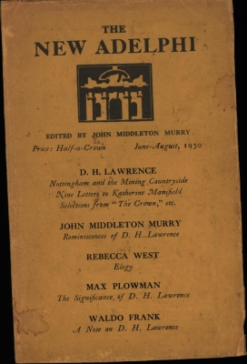 The New Adelphi, Vol. III. No. 4 June-August, 1930,Lawrence: Nottingham and the Mining Countrysid...