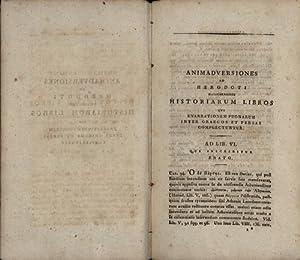 Herodoti halicarnassei Historiarum Libri qui enarrationem pugnarum inter Graecos et Persas ...
