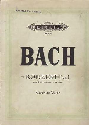 Edition Peters, Nr. 229. Bach. Konzert Nr.: Bach, Johann Sebastian