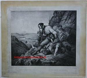 Der Räuber und sein Kind Le brigand et son enfant. Herausgegeben von C.F. Vogel: Lessing, C.F.(pinx...