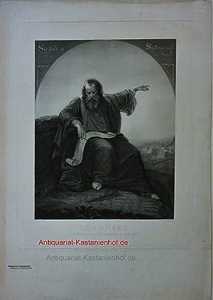 Jeremias Den Untergang Jerusalems Vorahnend,religiöse Darst. Bibelszene: nach Muhr, J. Gestochen ...