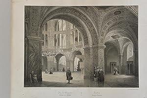 Aix-la-Chapelle Aachen. Interieur de la Cathedrale. Aachen. Innere der Domkirche,Lithografie, ...