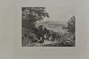 Chateau de Versailles en 1668, Historiendarstellung, Original-Stahlstich,: Peint par Vandermeulen; ...
