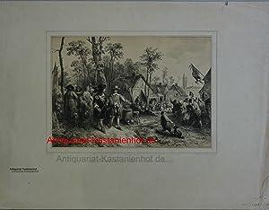 David Teniers avec Son Élévé don Juan D'Autriche,Original-Lithografie;Original-Lithografie: ...