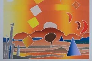 Chippewah Summer; Exemplar 67/75 , SIGNIERT von Secunda, abstrakte Jahreszeiten,: Secunda, Arthur