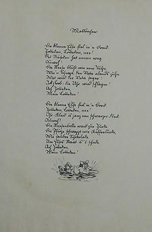 Mallörchen, Karikatur,: Zille, Heinrich